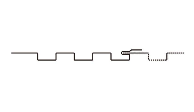 12型 アルミスパンドレル リブタイプ