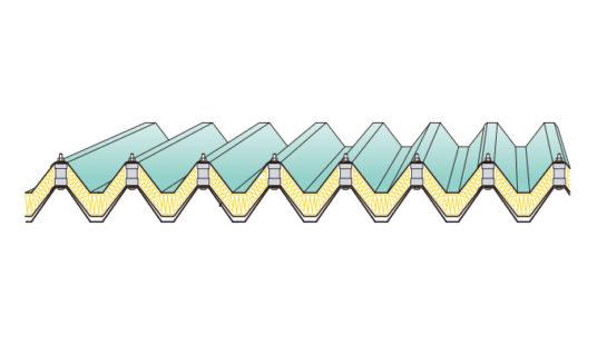 KBルーフ折板二重葺断熱工法(耐火構造)